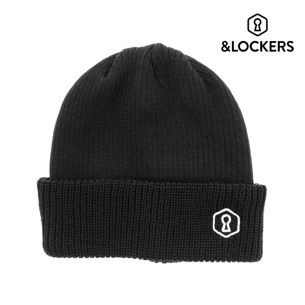 Rib Knit CAP BLK